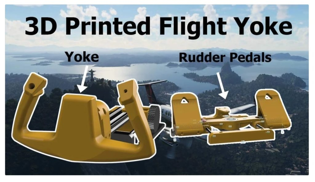 DIY 3D printed Flight Simulator Joystick
