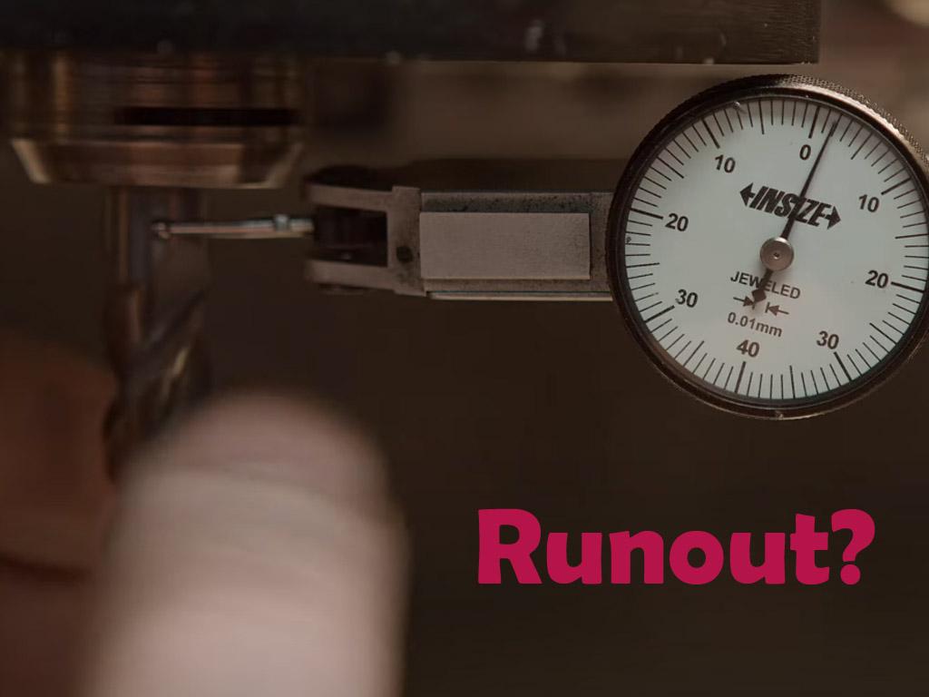 Runout en el collet para CNC