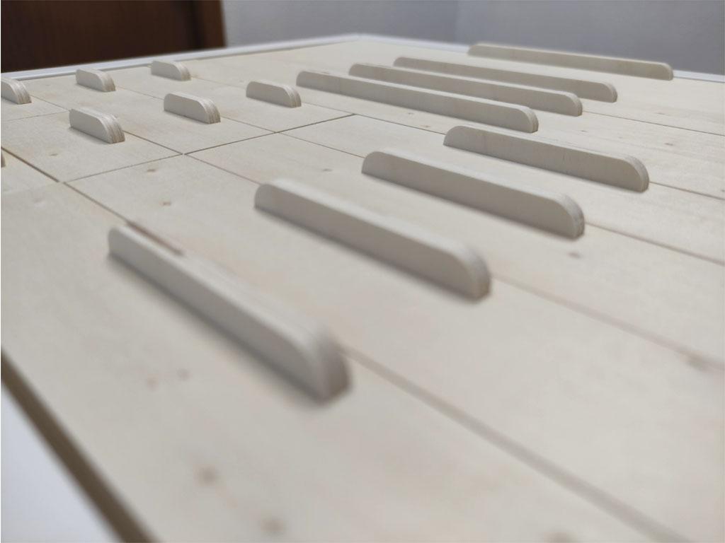 Fabricación modulo de cajones pequeño en madera tiradores