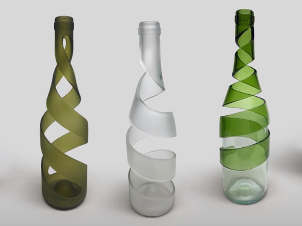 como cortar botellas de vidrio