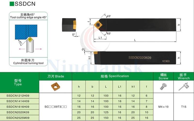 parámetros portacucilla torno SSDC