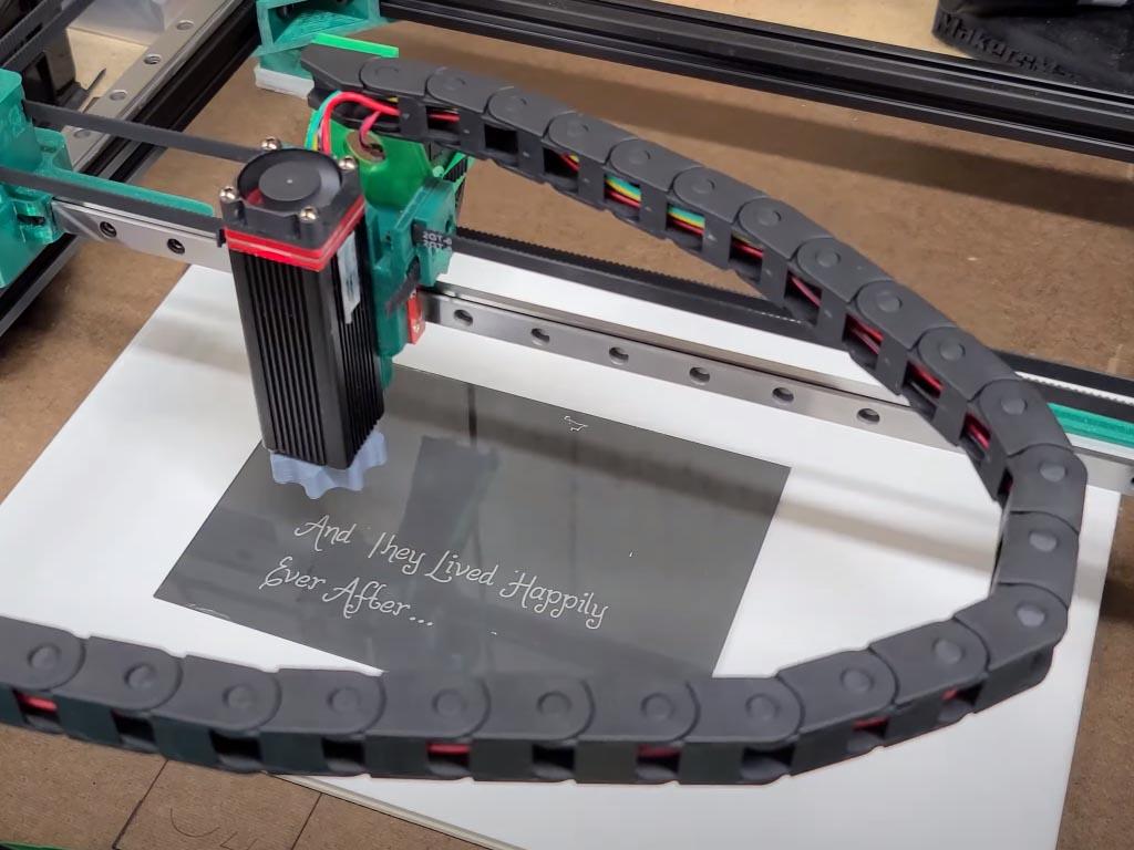 grabado de cristal con laser de diodo
