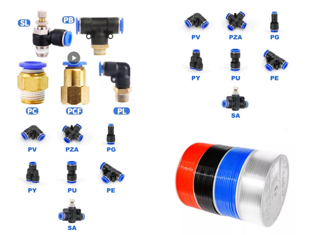conectores rápidos para línea de aire o vacío