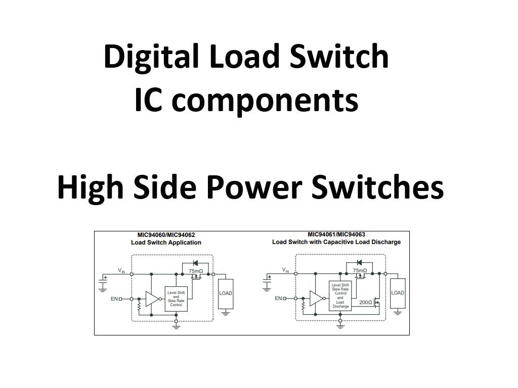 Interruptores digitales electrónicos en lado alto