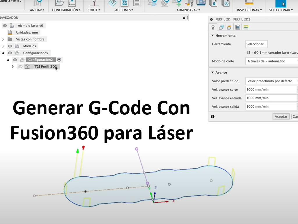 Generar gcode con Fusion360 para diodo láser